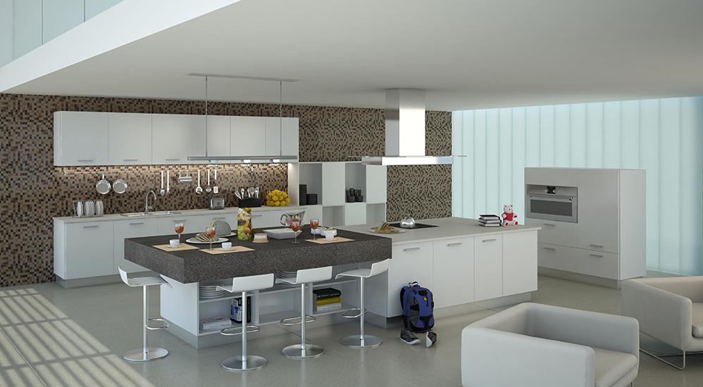 Cocinas pol meros studio cocina amoblamientos reno mar for Modelos de amoblamientos de cocina